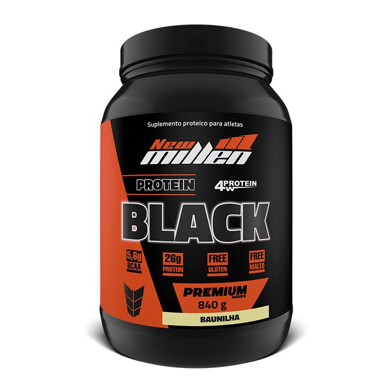 Protein Black 4w 840g New Millen  - Vitta Gold