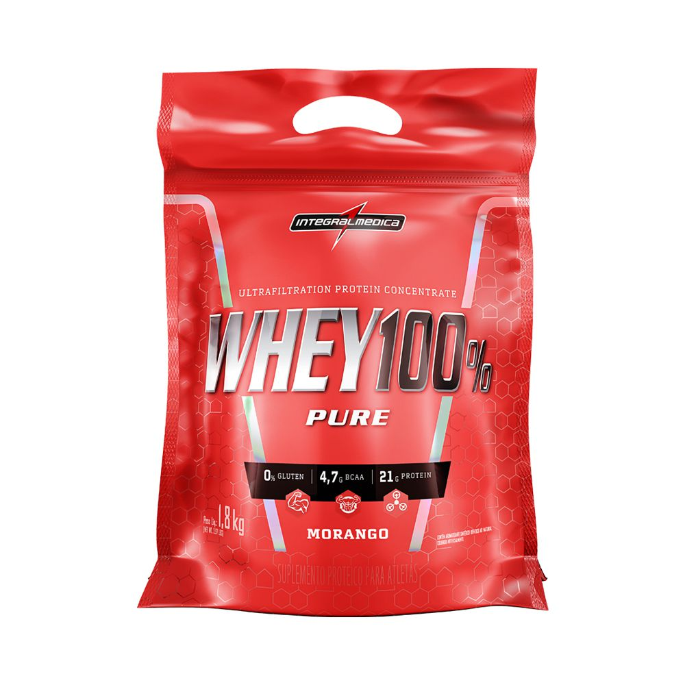 Super Whey 100% Pure Refil 1,8kg Integralmédica  - Vitta Gold