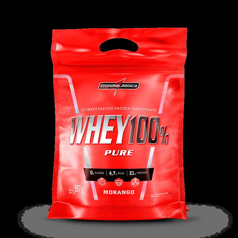 Super Whey 100% Pure Refil 907g Integralmédica  - Vitta Gold