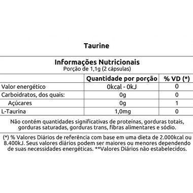 Taurine 30 Cápsulas Vitafor  - Vitta Gold