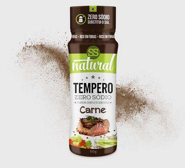 Tempero Zero Sódio Sabor Carne 50g SS natural  - Vitta Gold