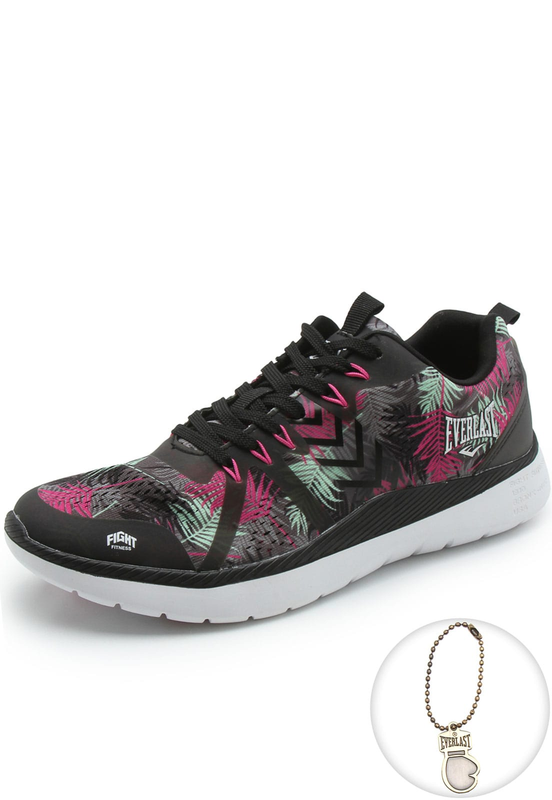 Tênis Everlast Haze Low Preto Floral