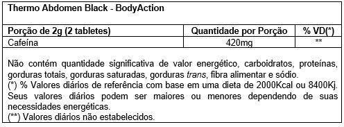 Thermo Abdomen Black 60 Tabletes Body Action  - Vitta Gold
