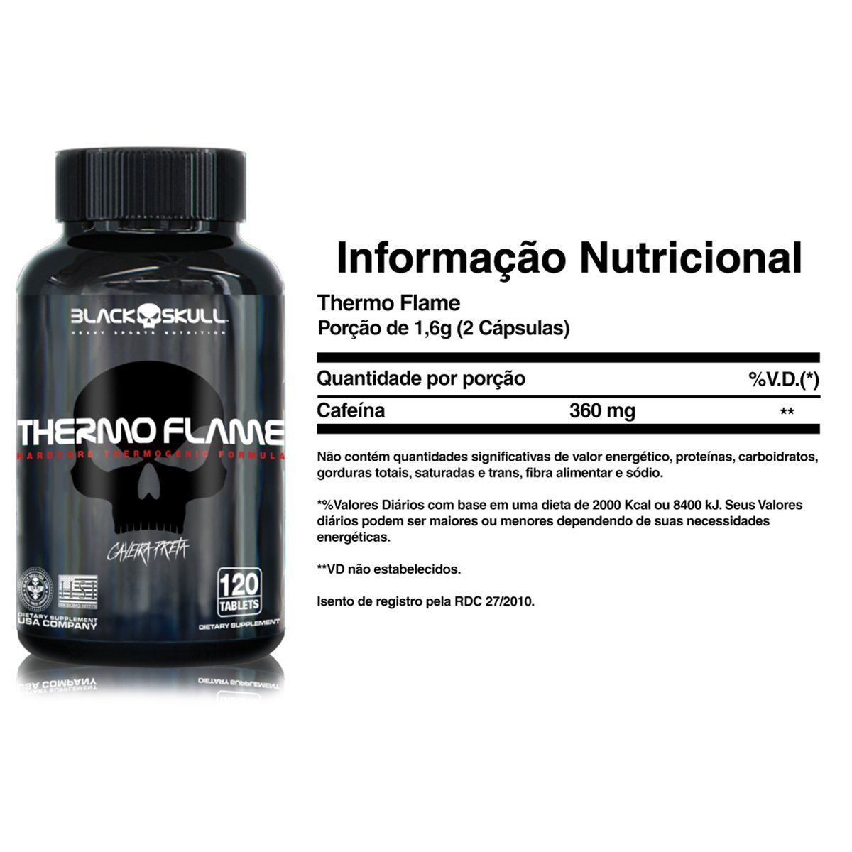 Thermo Flame 120 Tabletes Black Skull  - Vitta Gold