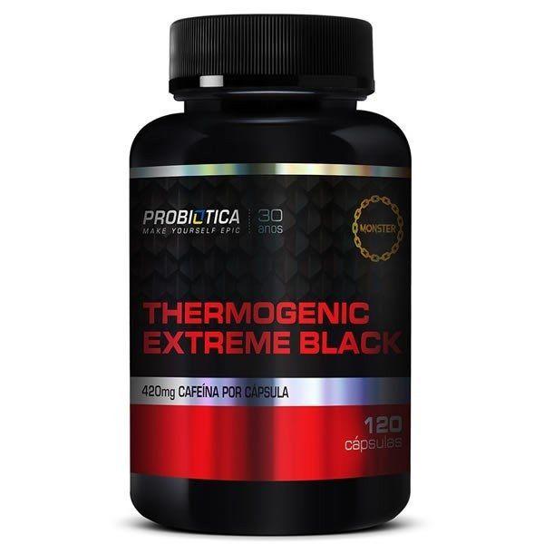 Thermogenic Extreme Black 120 Cápsulas Probiótica  - Vitta Gold