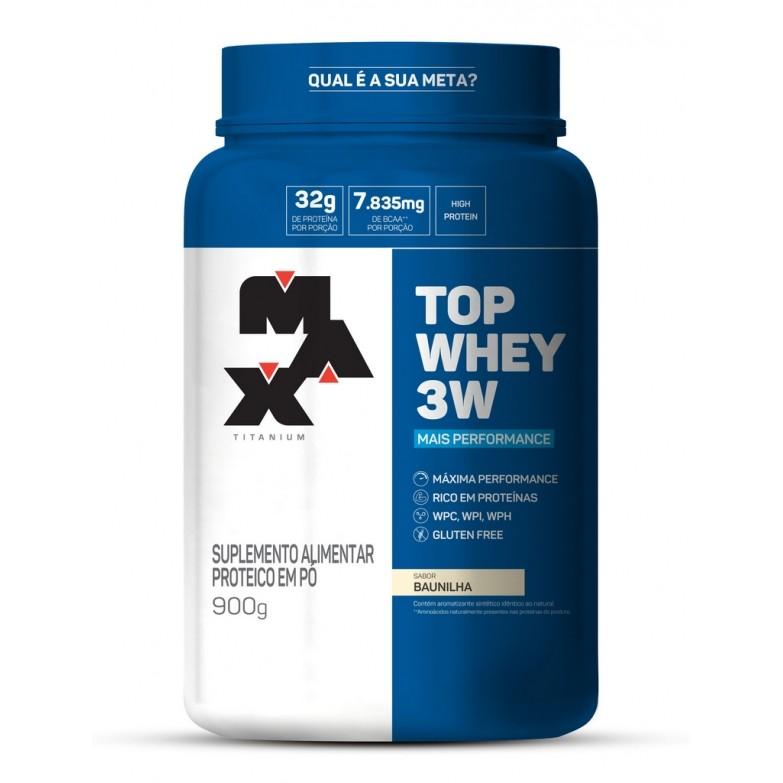 Top Whey 3W Mais Performance 900g Max Titanium