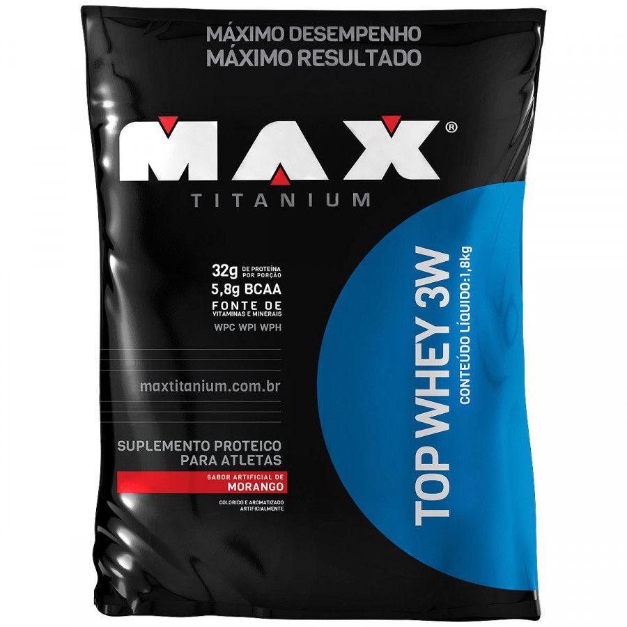 Top Whey 3W Refil 1,8kg Max Titanium