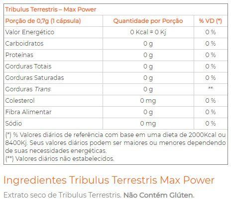 Tribulus Terrestris Max Testo Plus 160 Cápsulas Power Evolution  - Vitta Gold