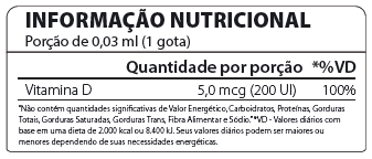 Vitamina D3 Gotas 30ml Atlhetica Nutrition  - Vitta Gold