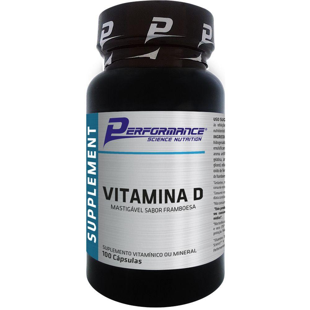 Vitamina D 100 Cápsulas Performance Nutrition  - Vitta Gold