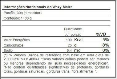 Waxy Maize Natural 1,4kg Probiótica - Vitta Gold