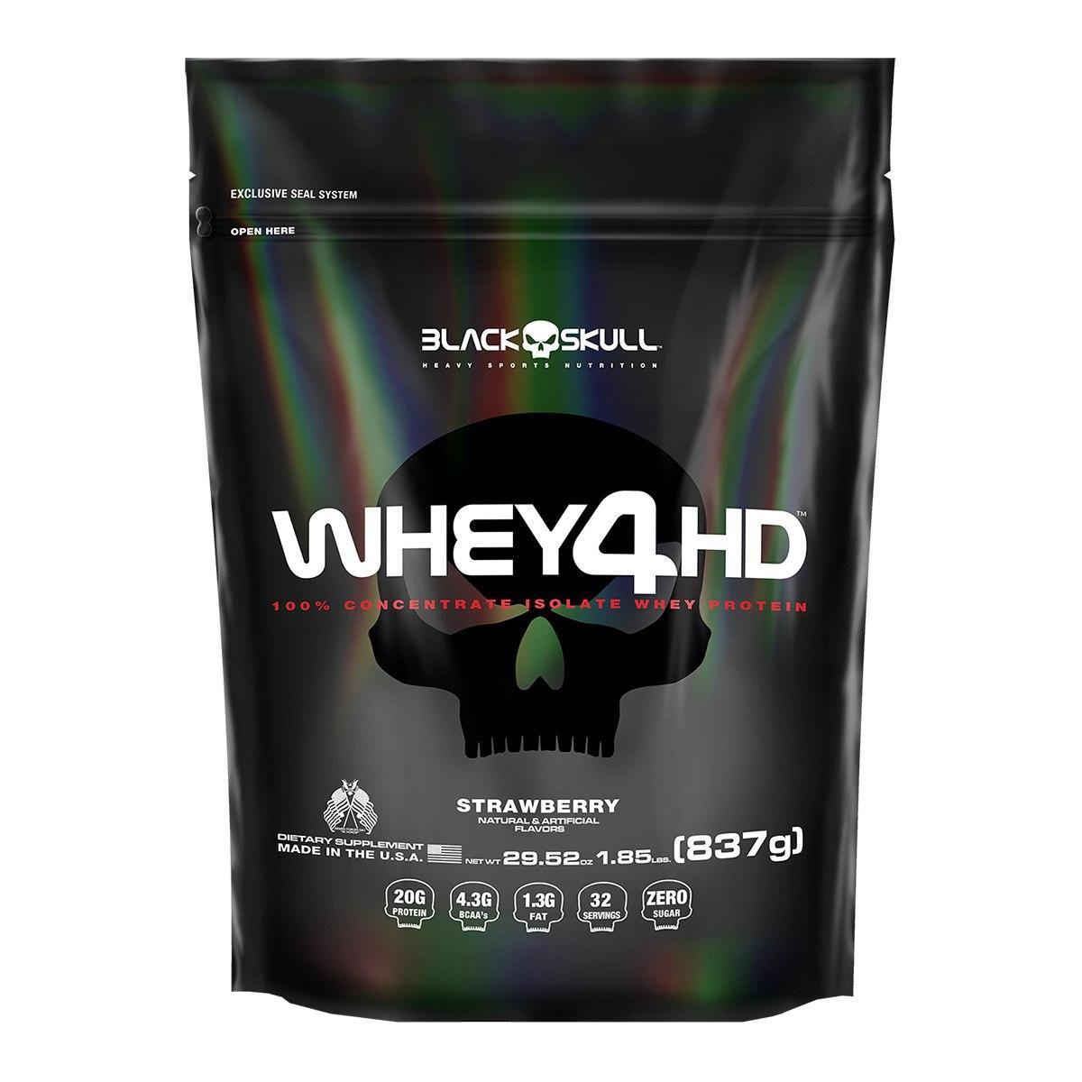 Whey 4HD Refil 837g Black Skull