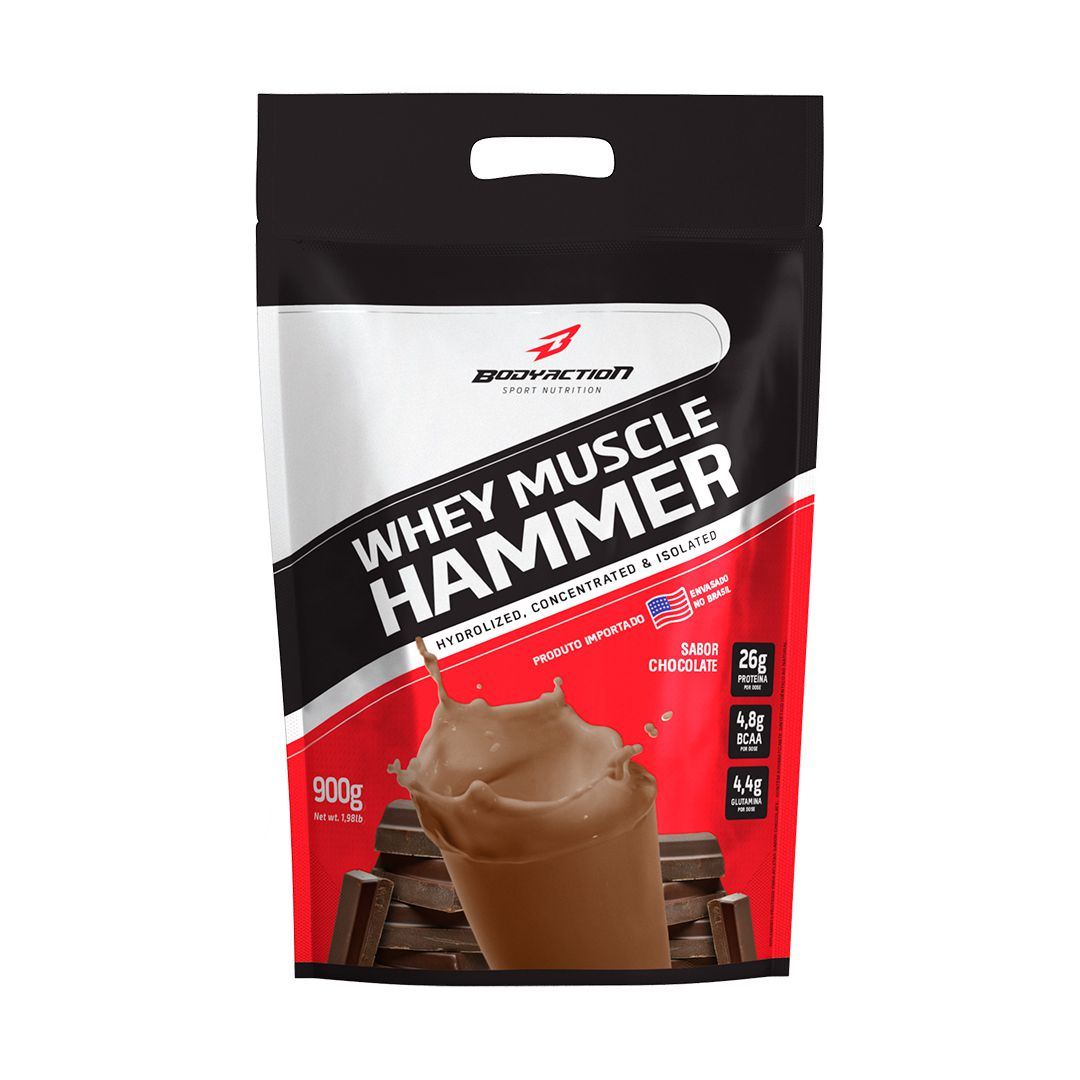 Whey Muscle Hammer 900g Body Action  - Vitta Gold