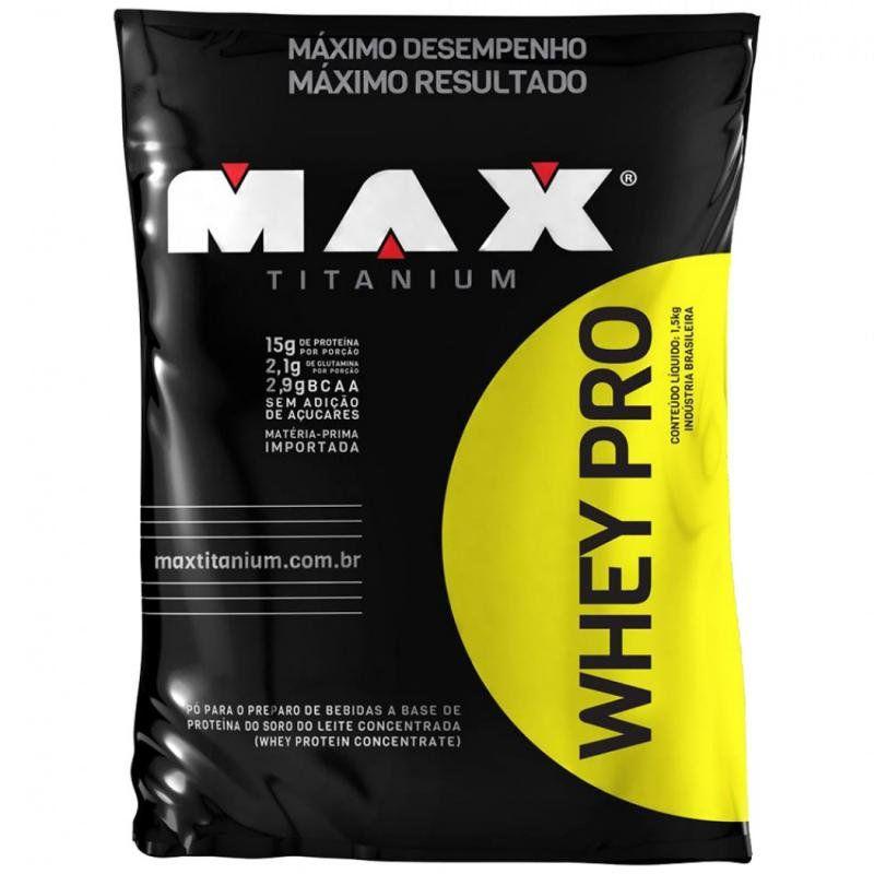 Whey PRO Refil 1,5kg Max Titanium  - Vitta Gold
