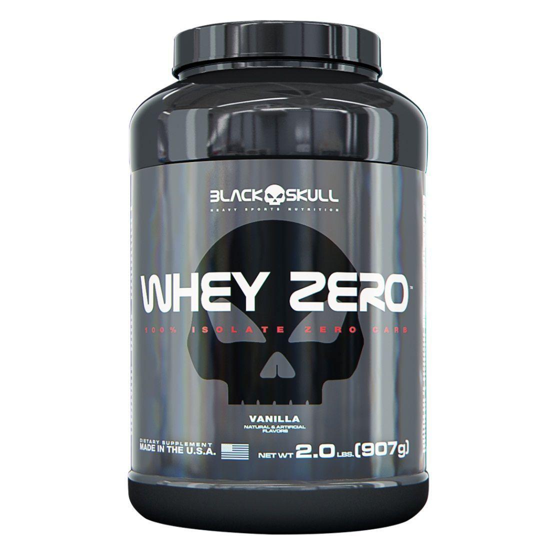 Whey Zero 907g Black Skull + Coqueteleira Black Skull  - Vitta Gold
