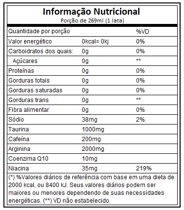 X Zero 269ml Atlhetica Nutrition  - Vitta Gold