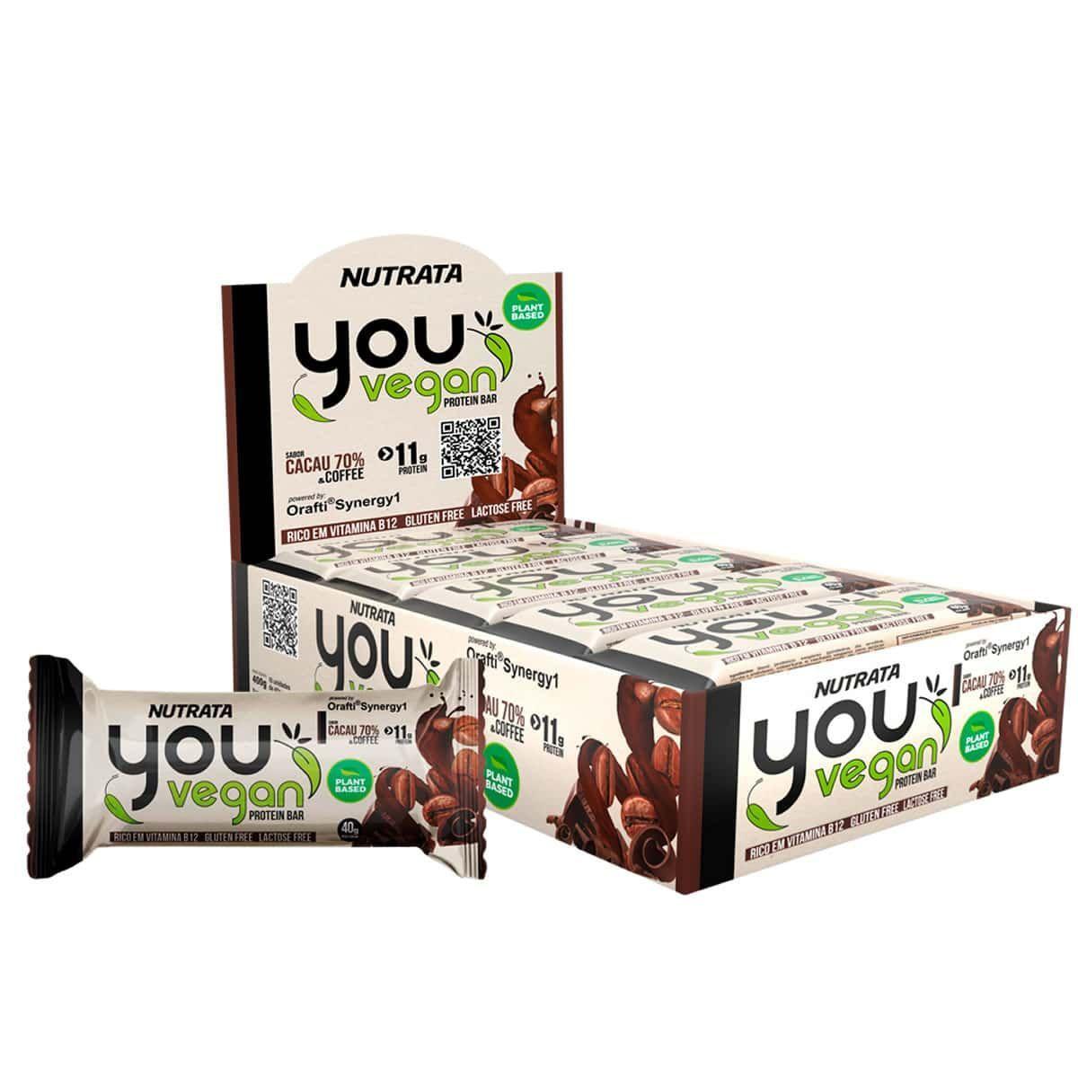 You Vegan Protein Bar Caixa 10 Barras 40gr - Nutrata