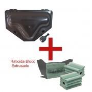 5 Porta Iscas C/ TRAVAMENTO DUPLO + 5 Blocos Extrusado