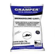 Gramper Isca Granulada - Uso Profissional - Bromadiolone - Rogama mata rato, raticida
