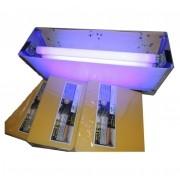 Kit 10 refis + Armadilhas Luminosas TOP, 60w, até 110m², 220V, Aço Inox Escovado, Matar Moscas, Matar Mosquitos
