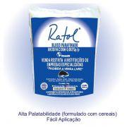Ratol Bloco Parafinado - Brodifacoum - 1kg - 50 Blocos - Chemone