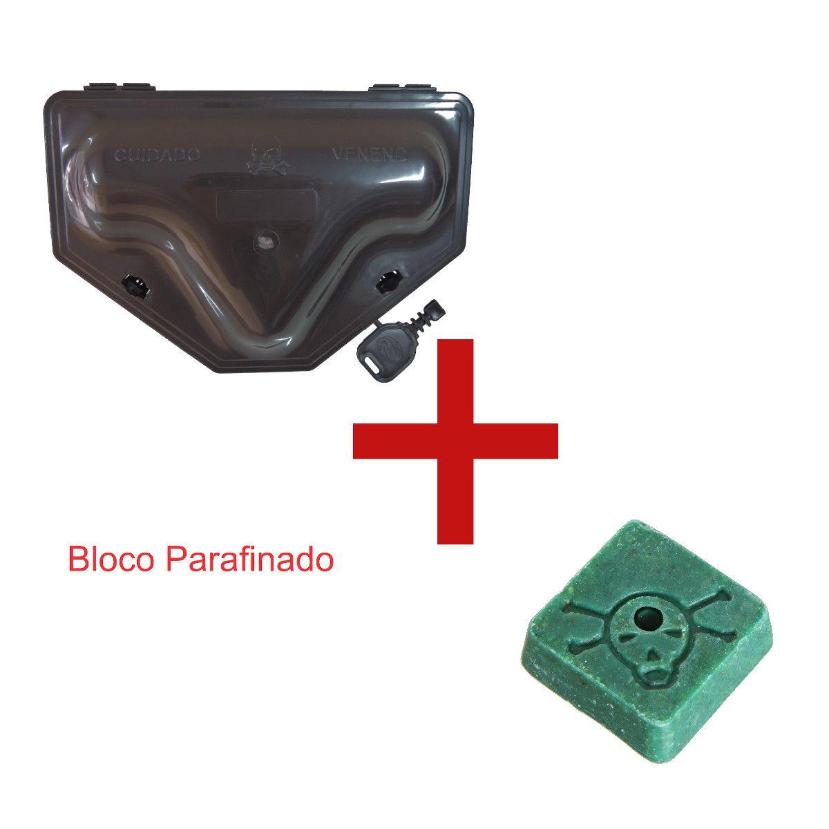4 Porta Iscas C/ Duplo Travamento + 4 Bloco Parafinado