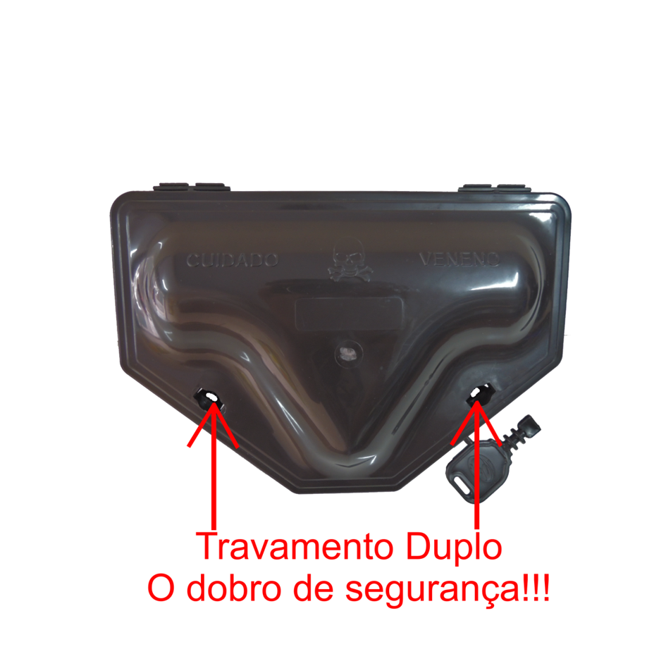 66 Porta Iscas C/ TRAVAMENTO DUPLO + 66 Blocos Extrusado