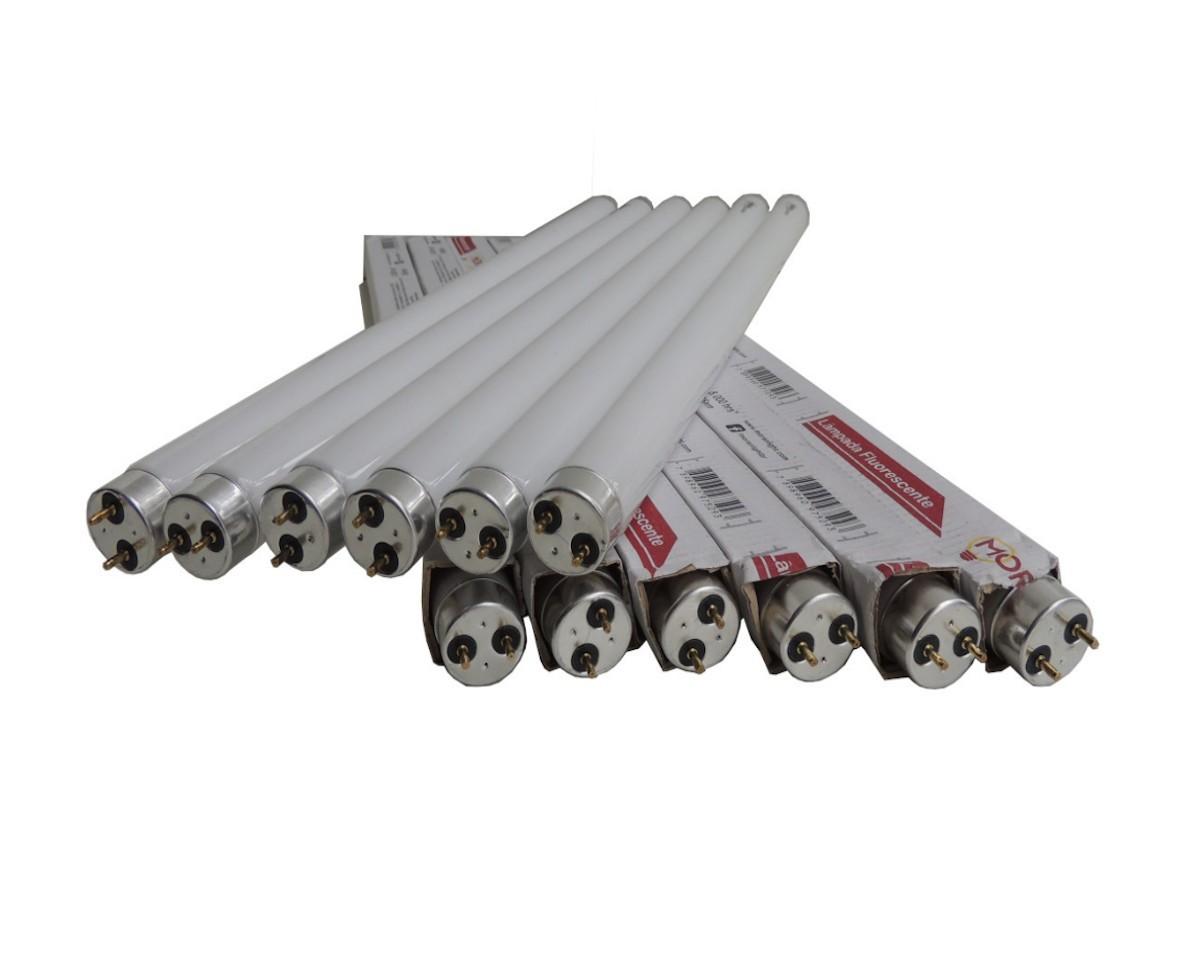 8 Lâmpadas UV T8 Bl 15w Tubular p/ Armadilha Luminosa 45cm