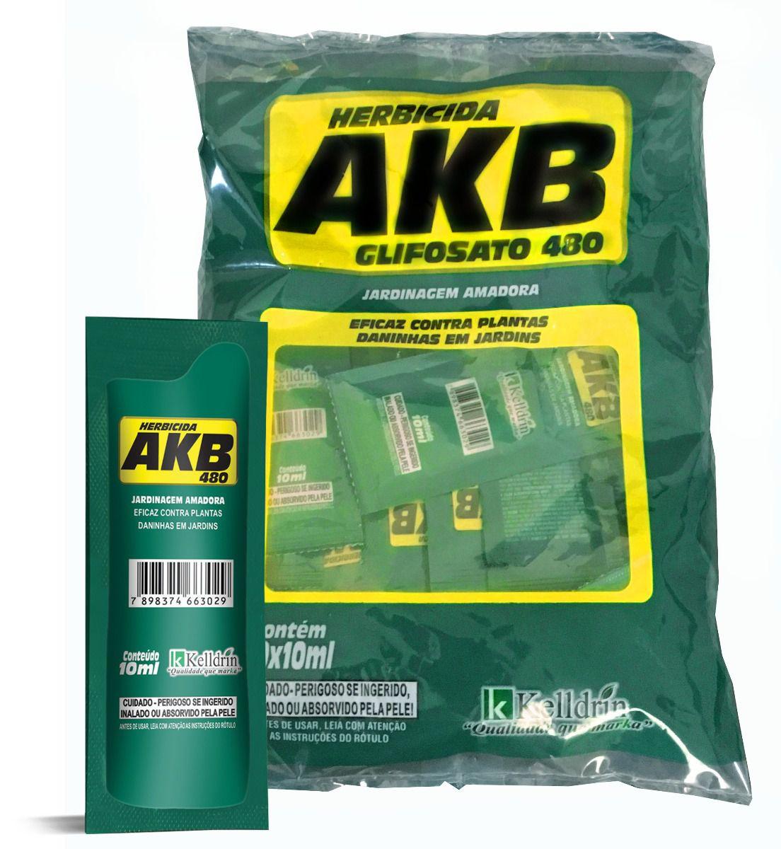 AKB 480 HERBICIDA -Glifosato 48% - 20x10ml - Kelldrin mata mato