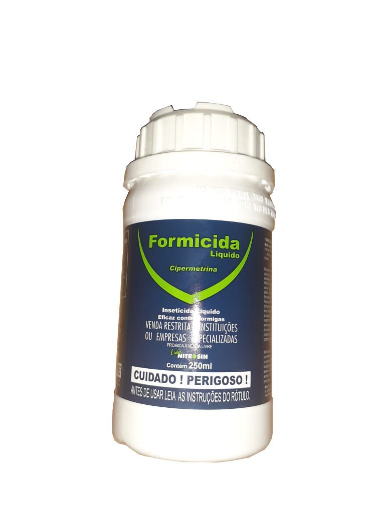 Formicida nitrosin 250ML - cipermetrina - mata formigas