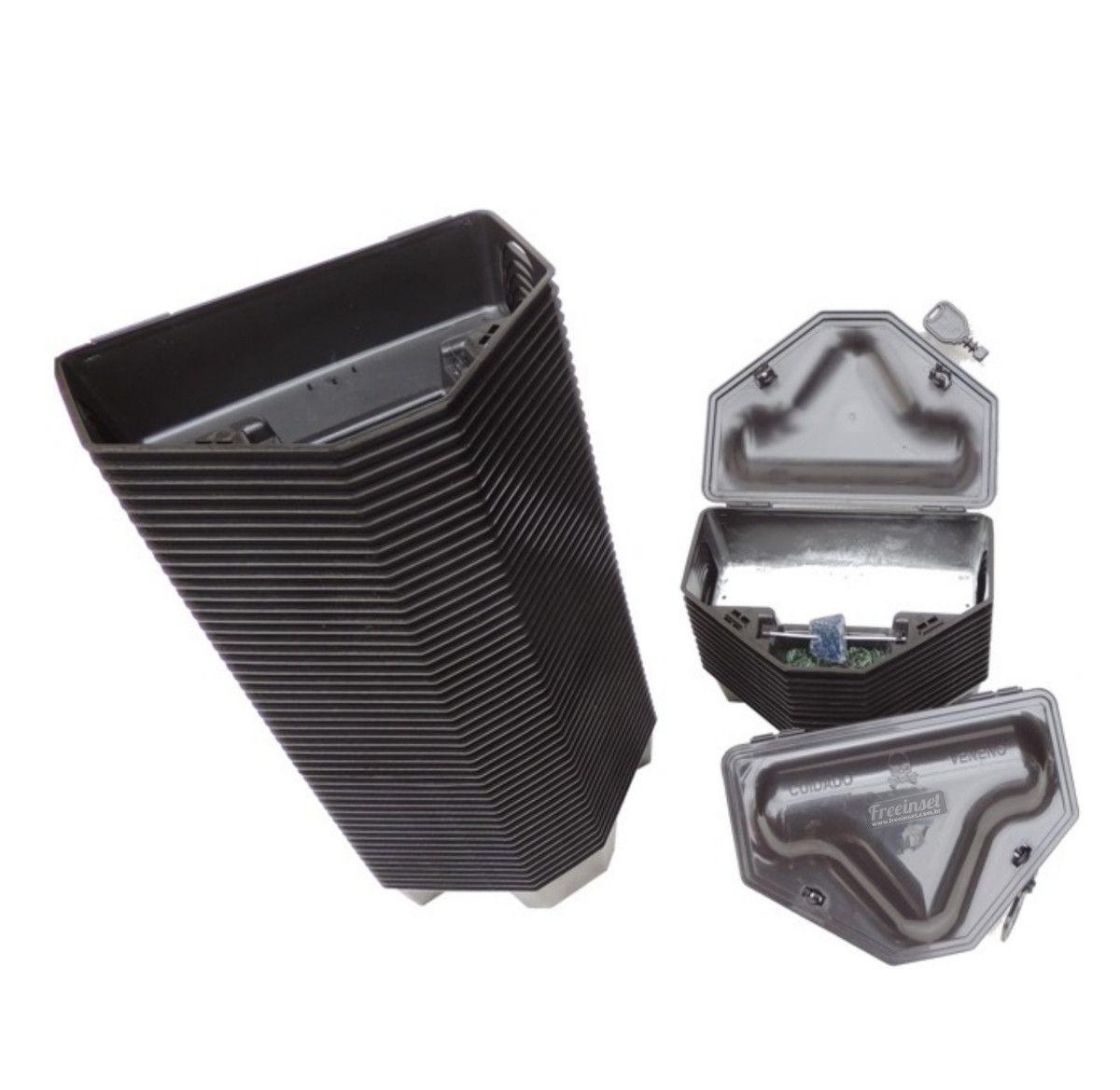 Kit 100 Porta Isca Reforçado, Com 2 Chaves - Duplo Travamento