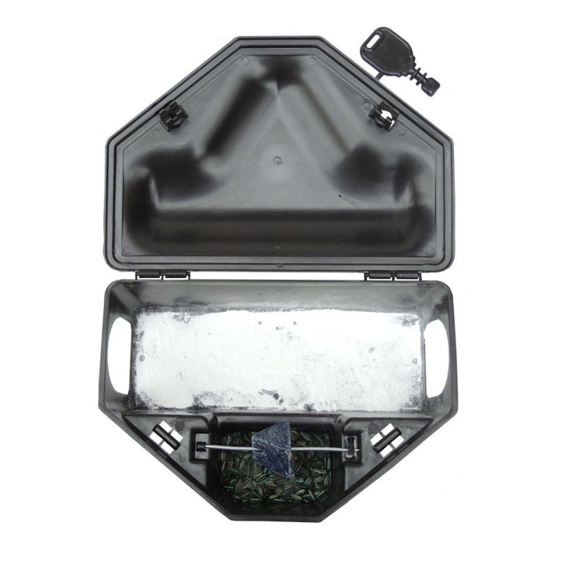 Kit 100 Porta Iscas Com 2 Chave Para Ratos