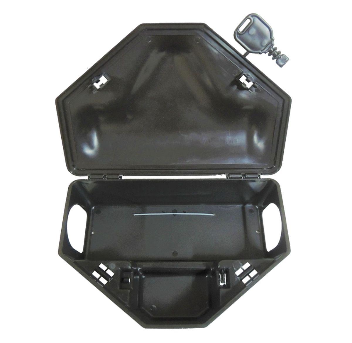 Kit 100 Porta Iscas Reforçado Com 2 Chave Para Ratos