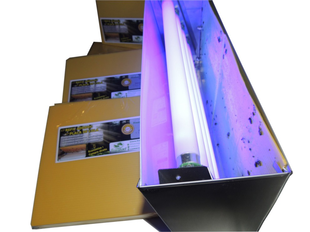 Kit 100 Refil Adesivo Para Restaurantes Matar Mosquitos 45x22 Cm