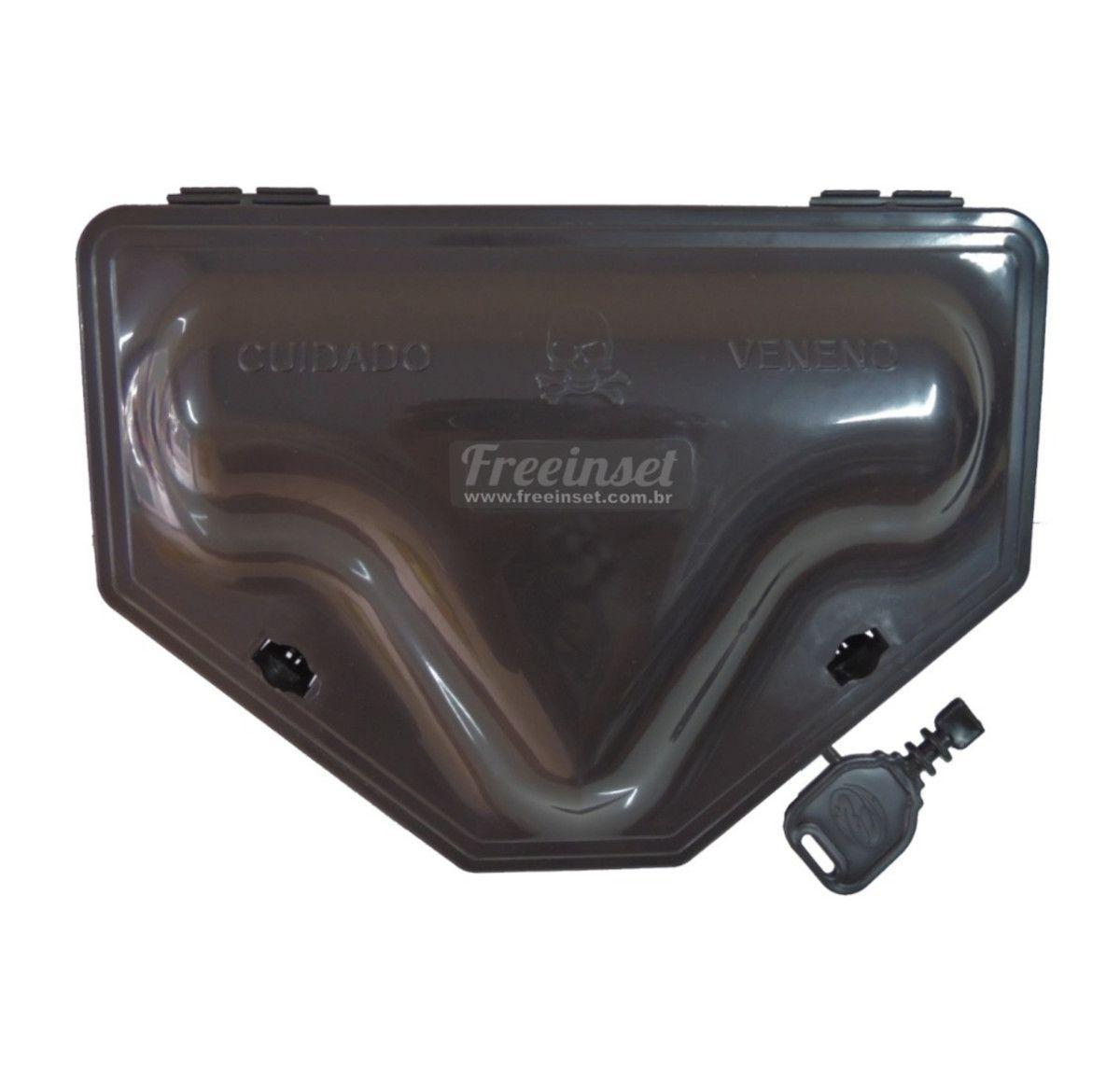 Kit 10 Porta Isca Com Chave + 25 Blocos Gramper