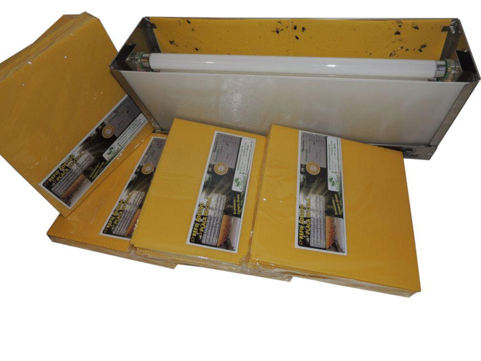 Kit 10 Refil Adesivo 39x10 cm Amarelo para Armadilha Matar Mosquitos