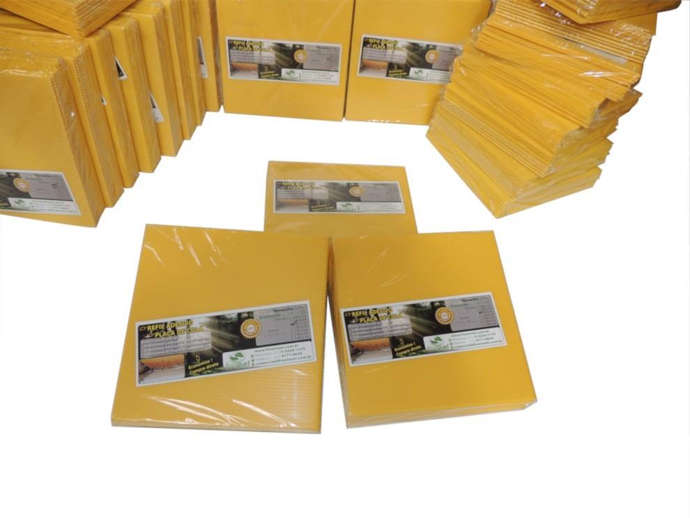 Kit 10 Refil Adesivo 45x14cm p/ AMARELO - Moscas Mosquitos