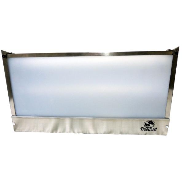 KIT 1 Armadilha Luminosa Inox Bivolt mata moscas 60w 110m²