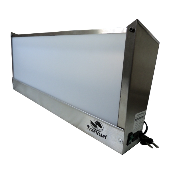 KIT 1 Armadilha Luminosa Inox Bivolt pega moscas 30w 50m²