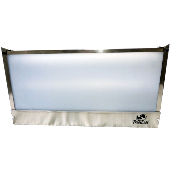 KIT 2 Armadilha Adesiva+20 Refis Bivolt Inox mosca 60w 110m²