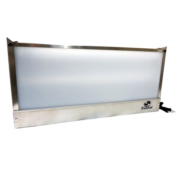 KIT 2 Armadilha Luminosa Inox Bivolt pega mosca 1 Lâmp. 25m²