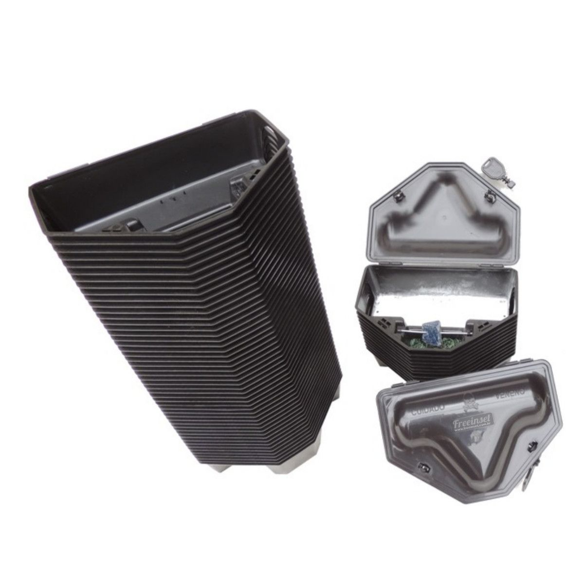 Kit 48 Porta Isca Com 2 Chaves - Duplo Travamento