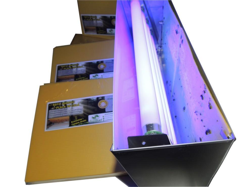Kit 500 Refil Adesivo 45x22 cm Amarelo para Armadilhas Luminosas