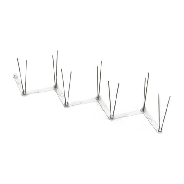 KIT 7 Caixas - Espícula Anti Pombo Zig-Zag Preta 98 metros