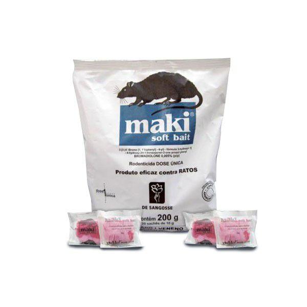 Maki isca fresca 200g - soft bait - 100% Original - raticida de dose única - Bromadiolone