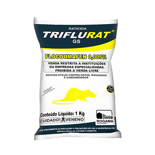 TRIFLURAT Bloco Extrusado - Flocoumafen - Mata rato de uso profissinal