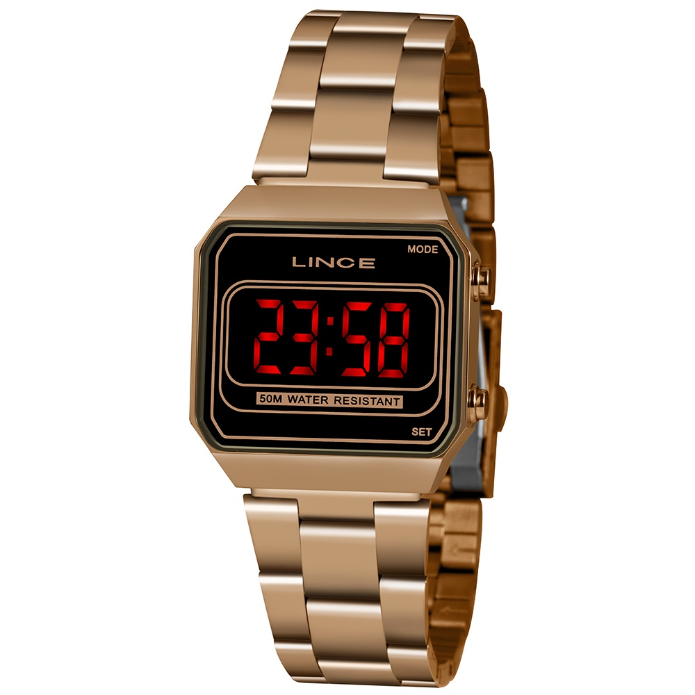 Relógio de Pulso LED Feminino Clássico Digital MDR4645L