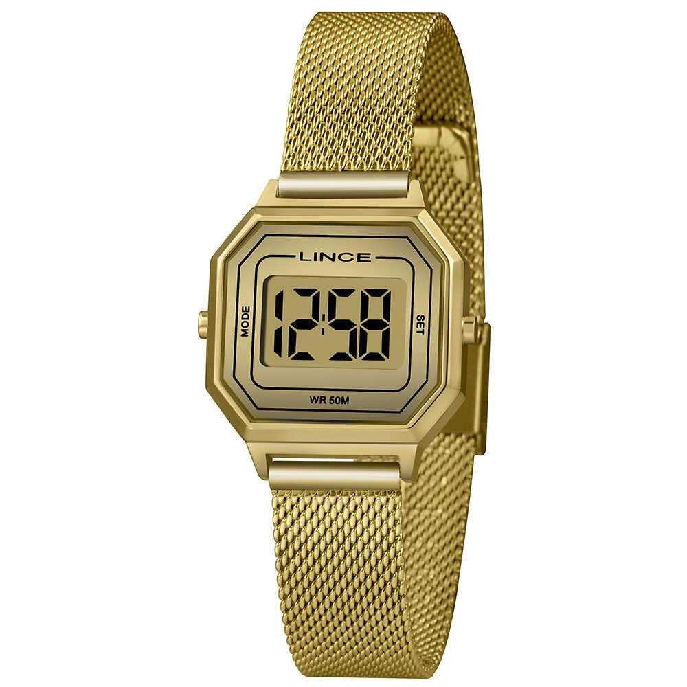 Relógio de Pulso Lince Digital Feminino Clássico SDPH128L
