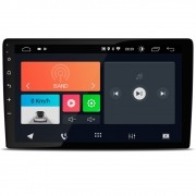 "Central Multimidia 10.1"" Android 10 com 2 USB Bluetooth Espelhamento Google Play Faaftech"
