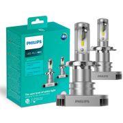 Lampada LED Philips Ultinon H4 6200K 23W 160% a Mais de Visibilidade
